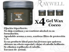 OFERTA PACK 4 GOMINAS GEL WAX COCO 500ML RAYWELL